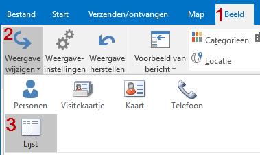 outlook-lijstweergave